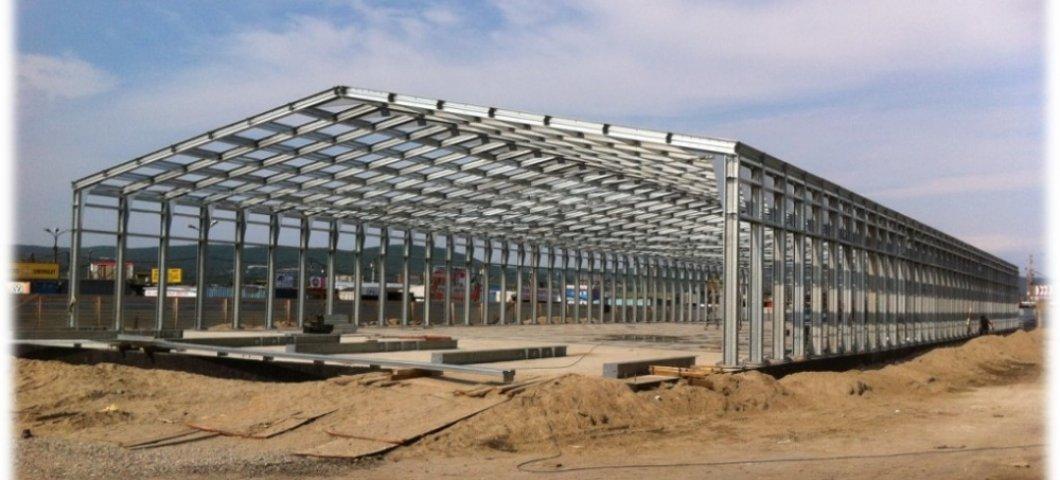 Строительство крытого авторынка в г. Мурманск 2014г.