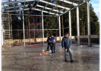Строительство цеха по сборке холодильного оборудования в п. Рощино (ЛСТК) 2014 год