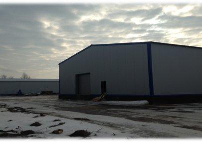 Строительство комплекса из трех зданий размерами 18х76х6 м